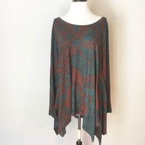 Soft Surroundings Multi colored sweater size 1x